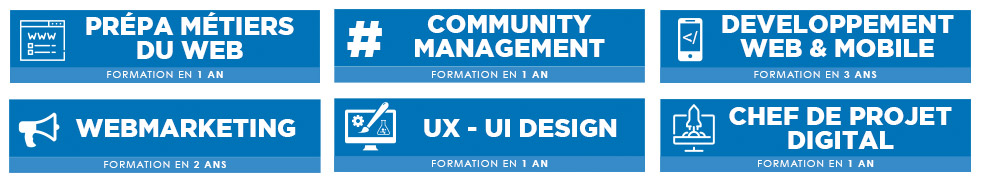 école community manager - marketing - developpement